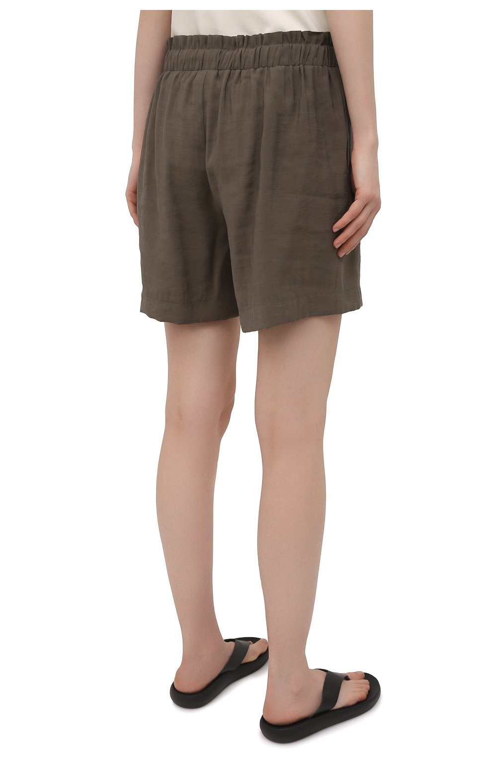 Женские шорты из вискозы PIETRO BRUNELLI хаки цвета, арт. PN0194/VI0078 | Фото 4