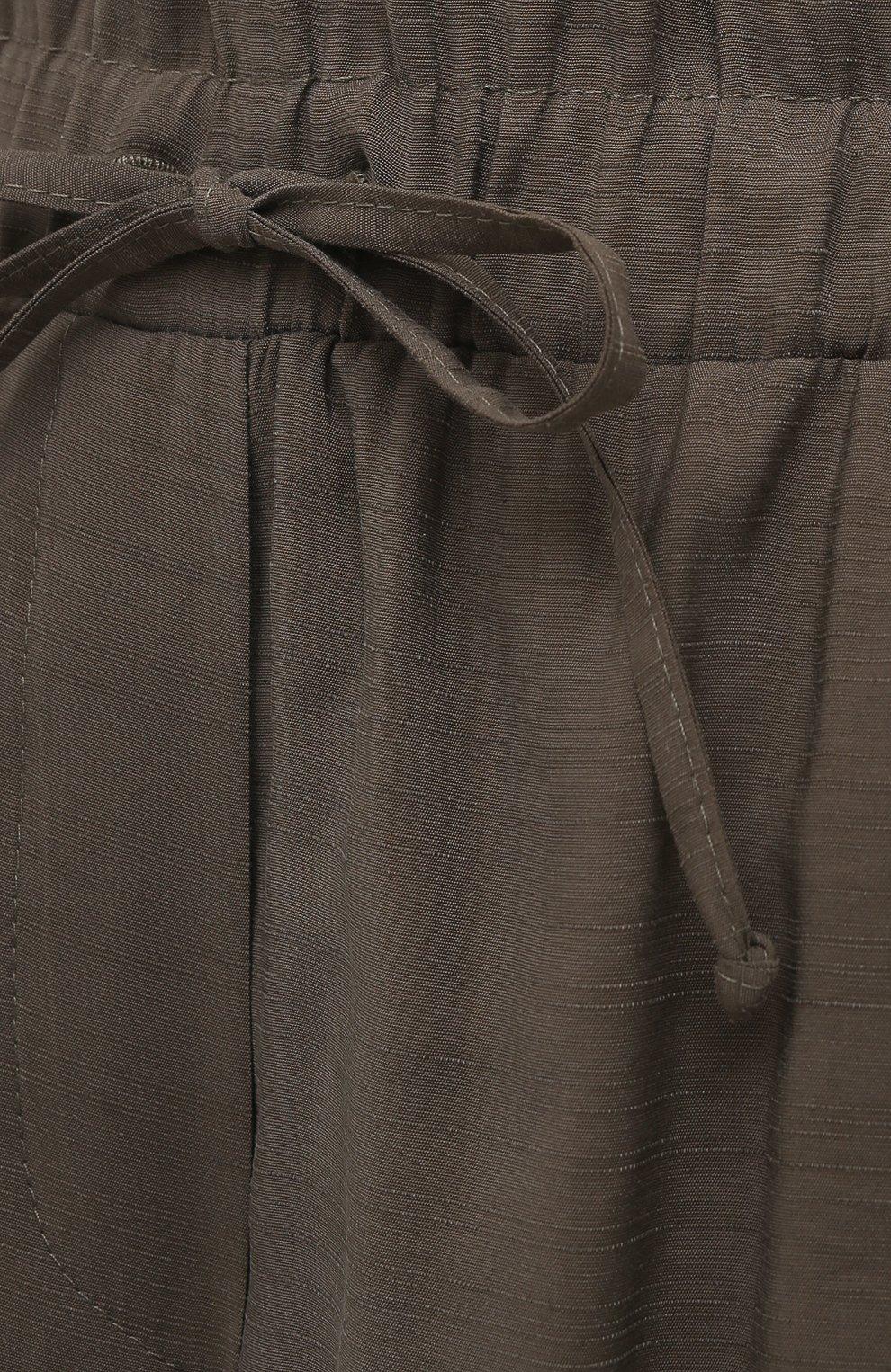 Женские шорты из вискозы PIETRO BRUNELLI хаки цвета, арт. PN0194/VI0078 | Фото 5