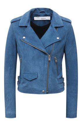 Женская замшевая куртка IRO синего цвета, арт. WM09ASHLEY | Фото 1