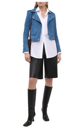 Женская замшевая куртка IRO синего цвета, арт. WM09ASHLEY | Фото 2