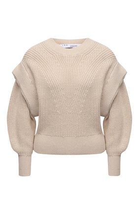 Женский хлопковый пуловер IRO бежевого цвета, арт. WP12KHARLA | Фото 1