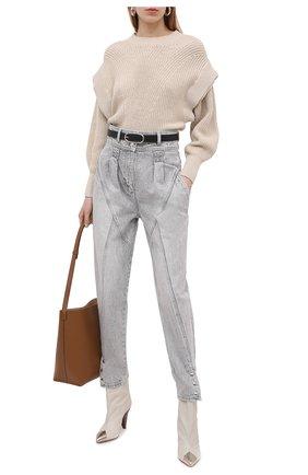 Женский хлопковый пуловер IRO бежевого цвета, арт. WP12KHARLA | Фото 2