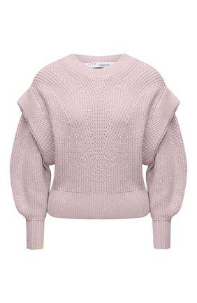Женский хлопковый пуловер IRO светло-розового цвета, арт. WP12KIRIA | Фото 1