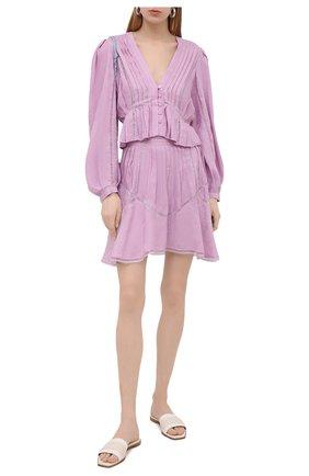 Женская льняная блузка IRO сиреневого цвета, арт. WP16CHIRA | Фото 2