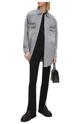 Женская джинсовая рубашка IRO серого цвета, арт. WP18YGGA | Фото 2