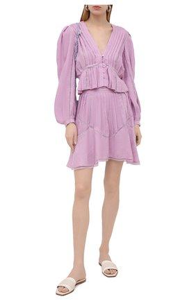Женская юбка IRO сиреневого цвета, арт. WP31J0N | Фото 2