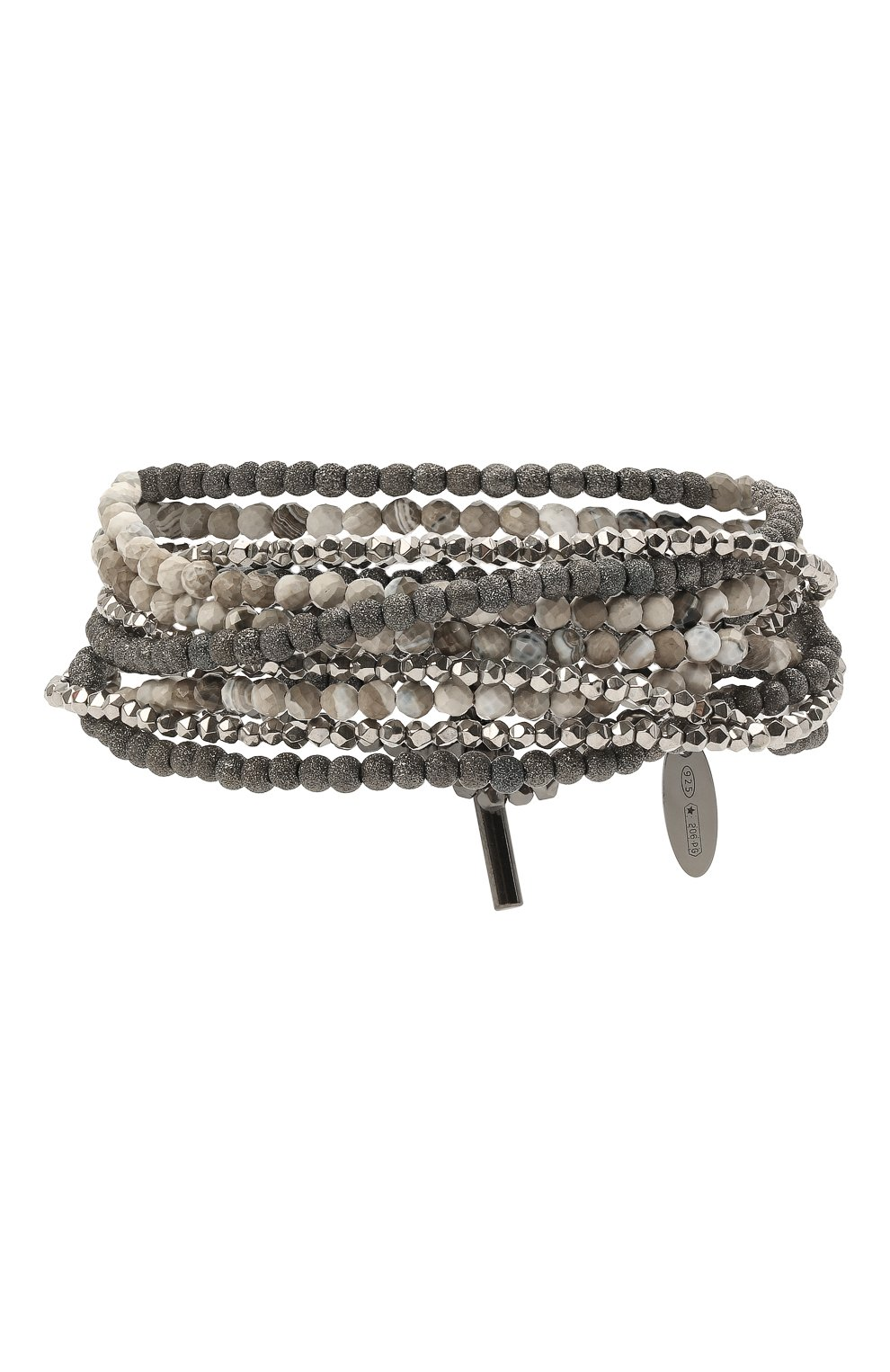 Женский браслет BRUNELLO CUCINELLI серебряного цвета, арт. MB0W9LX09/M   Фото 1