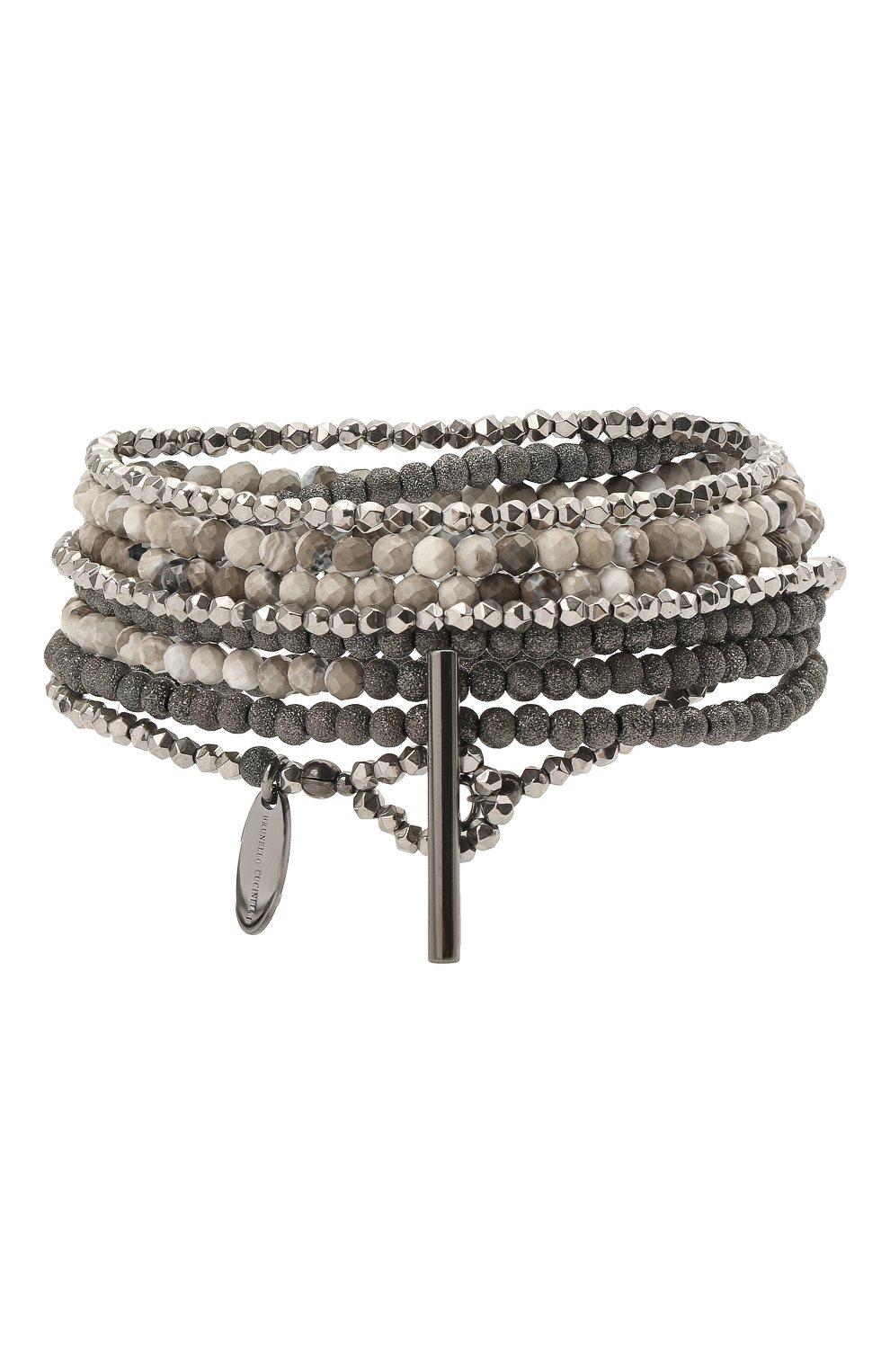 Женский браслет BRUNELLO CUCINELLI серебряного цвета, арт. MB0W9LX09/M   Фото 2
