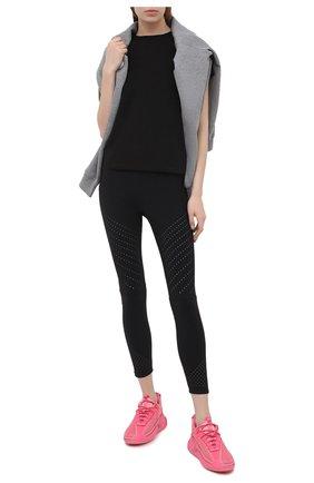 Женская хлопковая футболка MONCLER черного цвета, арт. G1-093-8C7B0-10-829H8 | Фото 2