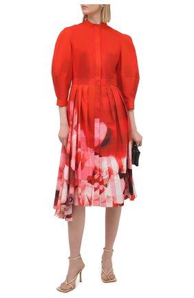 Женское хлопковое платье ALEXANDER MCQUEEN красного цвета, арт. 651669/QCACE | Фото 2