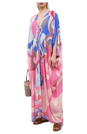 Женская туника из вискозы EMILIO PUCCI разноцветного цвета, арт. 1EWL30/1E785 | Фото 2