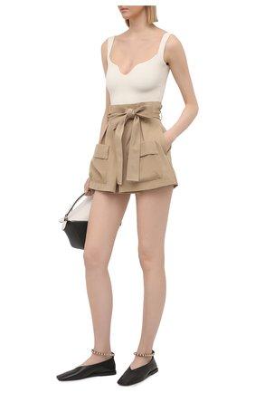 Женские шорты из хлопка и шерсти REDVALENTINO бежевого цвета, арт. VR3RFE35/4R9 | Фото 2