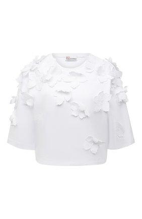 Женская хлопковая футболка REDVALENTINO белого цвета, арт. VR0MG10S/5VD | Фото 1