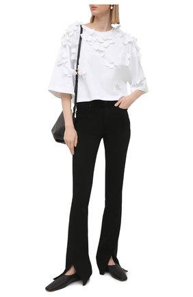 Женская хлопковая футболка REDVALENTINO белого цвета, арт. VR0MG10S/5VD | Фото 2