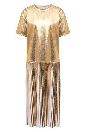 Женское платье VALENTINO золотого цвета, арт. VB3MJ03B69Y | Фото 1