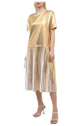 Женское платье VALENTINO золотого цвета, арт. VB3MJ03B69Y | Фото 2