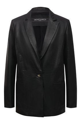 Женский кожаный жакет SIMONETTA RAVIZZA черного цвета, арт. S01JA05L1/001 | Фото 1