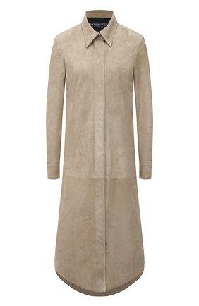 Женское замшевое платье SIMONETTA RAVIZZA бежевого цвета, арт. S01SH06S1/333   Фото 1