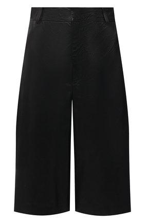 Женские кожаные шорты SIMONETTA RAVIZZA черного цвета, арт. S01ST03L1/001 | Фото 1