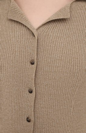 Женский шерстяной кардиган NANUSHKA бежевого цвета, арт. SID_BEIGE_MELANGE W00L KNIT | Фото 5