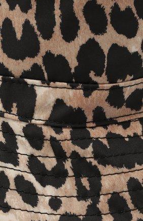 Женская панама GANNI леопардового цвета, арт. A3326 | Фото 3