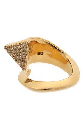 Женское кольцо BOTTEGA VENETA золотого цвета, арт. 651096/VB0B6 | Фото 1 (Материал: Серебро)
