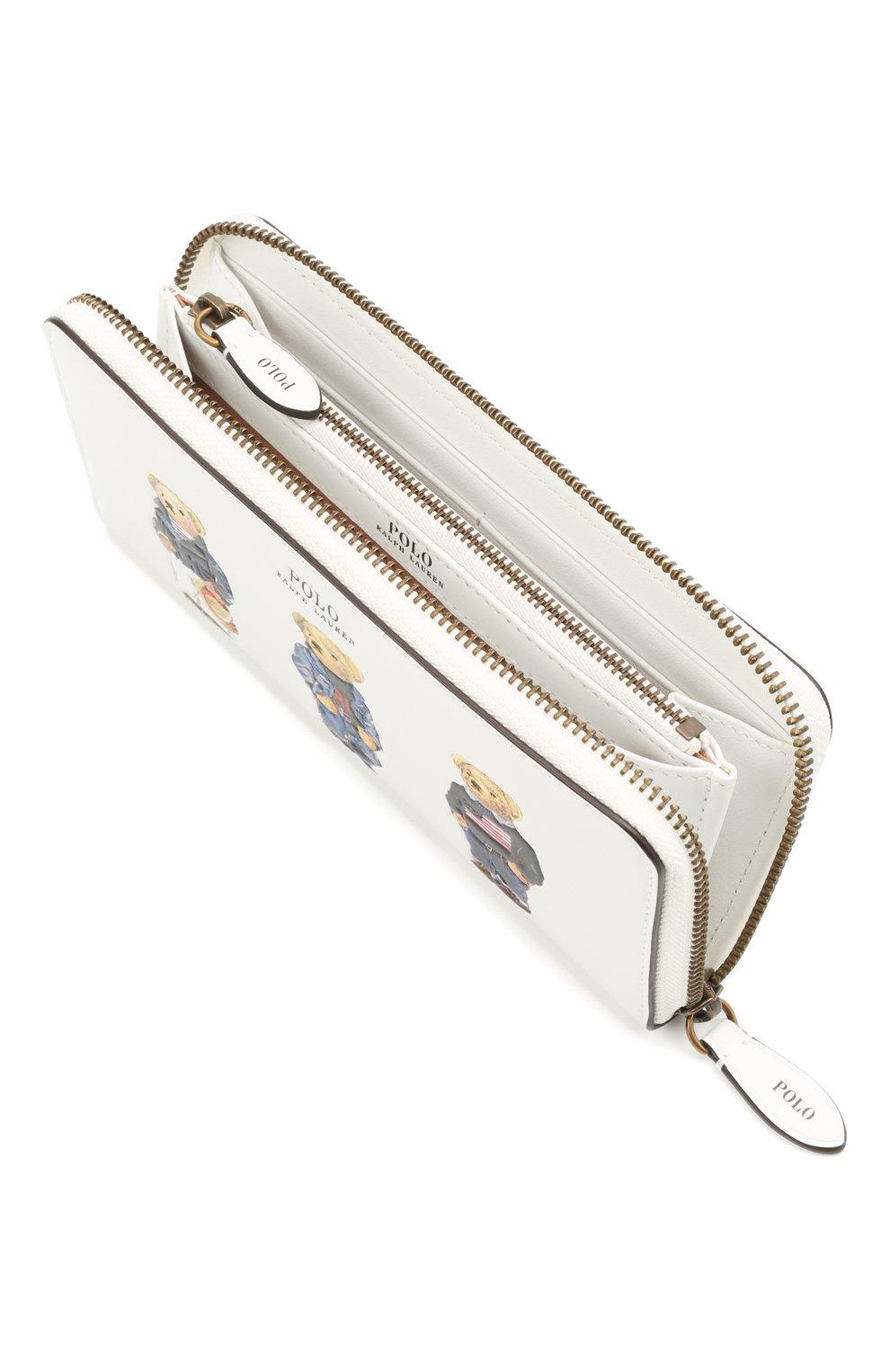 Женские кожаный кошелек POLO RALPH LAUREN белого цвета, арт. 427828901 | Фото 3