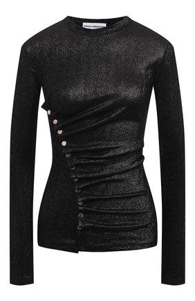 Женский топ из вискозы PACO RABANNE черного цвета, арт. 20AJT0034VI0261 | Фото 1