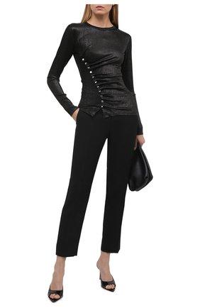 Женский топ из вискозы PACO RABANNE черного цвета, арт. 20AJT0034VI0261 | Фото 2