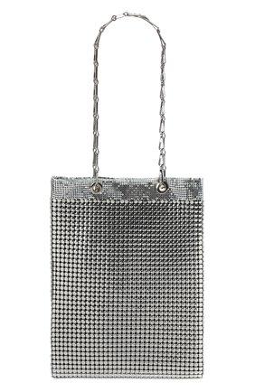 Женская сумка pixel PACO RABANNE серебряного цвета, арт. 21PSS0236MET067   Фото 1 (Материал: Металл; Размер: medium; Сумки-технические: Сумки через плечо, Сумки top-handle; Ремень/цепочка: С цепочкой)