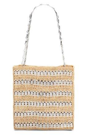 Женский сумка-тоут 1969 PACO RABANNE бежевого цвета, арт. 21PSS0229MET152 | Фото 1