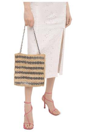 Женский сумка-тоут 1969 PACO RABANNE бежевого цвета, арт. 21PSS0229MET152 | Фото 2
