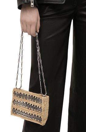 Женская сумка 1969 nano PACO RABANNE бежевого цвета, арт. 21PSS0127MET152 | Фото 2