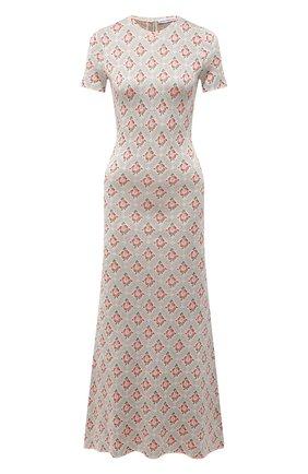 Женское платье из вискозы PACO RABANNE бежевого цвета, арт. 21PMR0320ML0111 | Фото 1