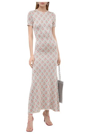 Женское платье из вискозы PACO RABANNE бежевого цвета, арт. 21PMR0320ML0111 | Фото 2