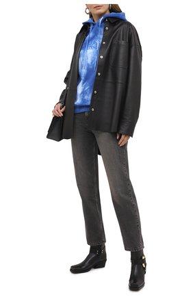 Женский хлопковое худи PACO RABANNE синего цвета, арт. 21PJSW029C00392 | Фото 2