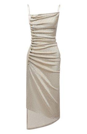 Женское платье из вискозы PACO RABANNE золотого цвета, арт. 21PJR0308VI0261 | Фото 1