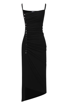 Женское платье из вискозы PACO RABANNE черного цвета, арт. 21PJR0308VI0204 | Фото 1
