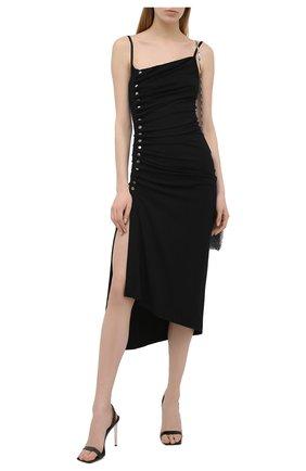 Женское платье из вискозы PACO RABANNE черного цвета, арт. 21PJR0308VI0204 | Фото 2