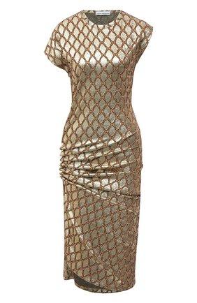 Женское платье PACO RABANNE золотого цвета, арт. 21PJR0007VI0285 | Фото 1