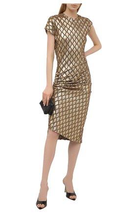 Женское платье PACO RABANNE золотого цвета, арт. 21PJR0007VI0285 | Фото 2