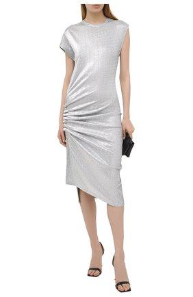 Женское платье из вискозы PACO RABANNE серебряного цвета, арт. 20PJR0007VI0222 | Фото 2