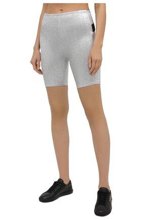 Женские шорты из вискозы PACO RABANNE серебряного цвета, арт. 20PJPA006VI0222 | Фото 3
