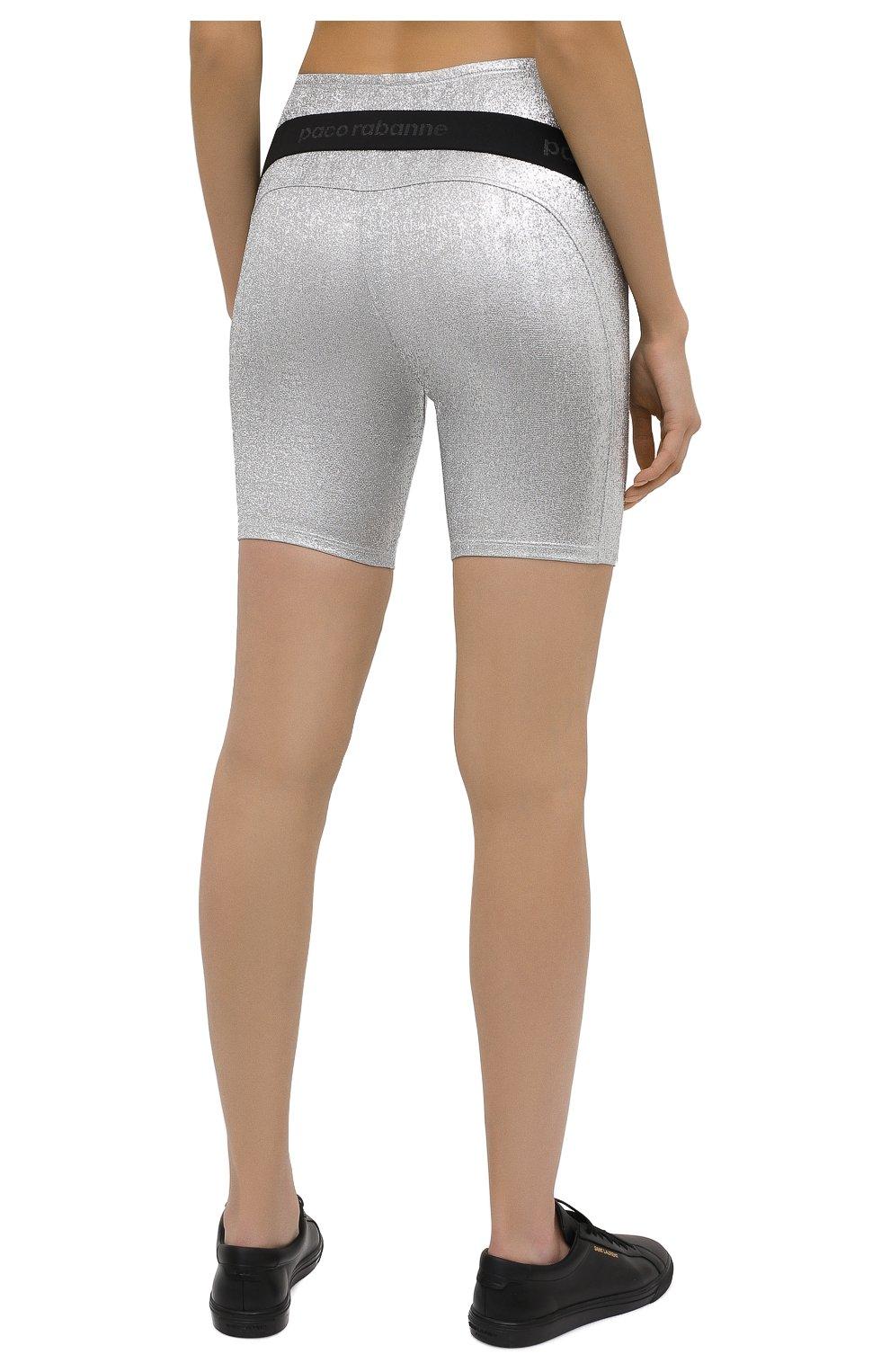 Женские шорты из вискозы PACO RABANNE серебряного цвета, арт. 20PJPA006VI0222 | Фото 4