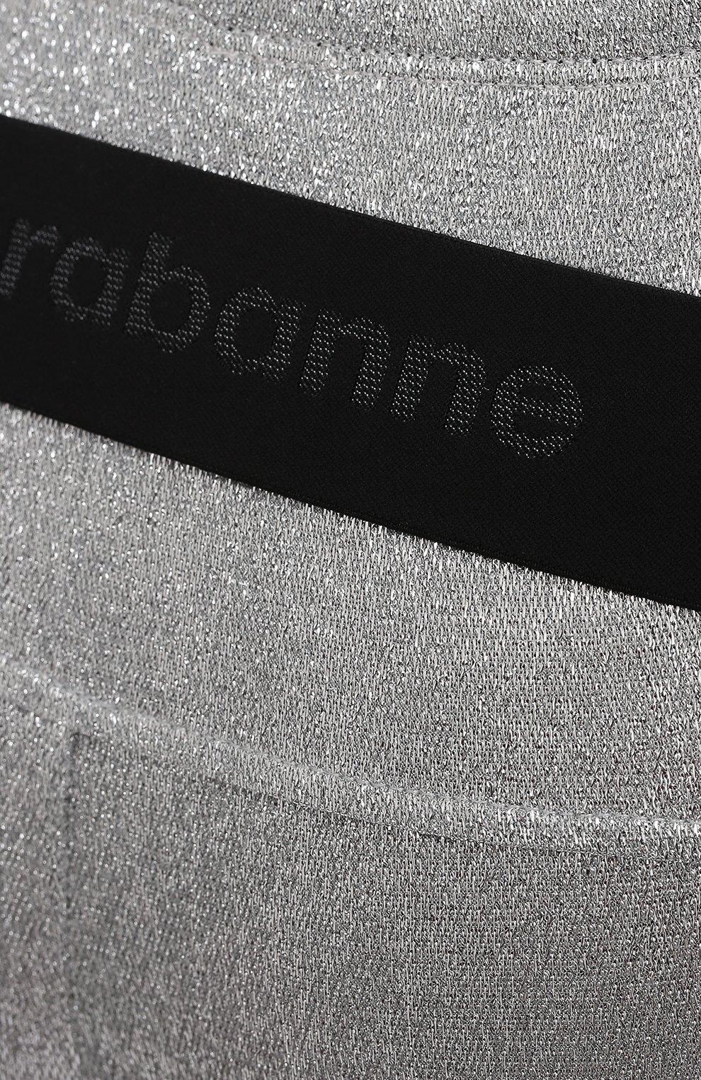 Женские шорты из вискозы PACO RABANNE серебряного цвета, арт. 20PJPA006VI0222 | Фото 5