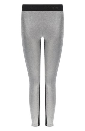 Женские леггинсы из вискозы PACO RABANNE серебряного цвета, арт. 20PJPA001VI0222 | Фото 1