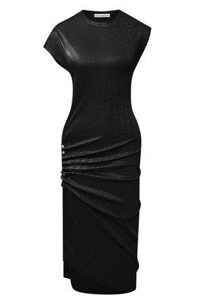 Женское платье из вискозы PACO RABANNE черного цвета, арт. 20AJR0007VI0261 | Фото 1