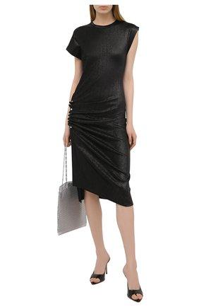 Женское платье из вискозы PACO RABANNE черного цвета, арт. 20AJR0007VI0261 | Фото 2
