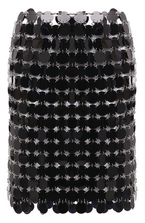 Женская юбка PACO RABANNE черного цвета, арт. 20AIJU010PS0133 | Фото 1