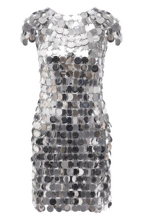 Женское платье PACO RABANNE серебряного цвета, арт. 19EIR0014PS0133 | Фото 1